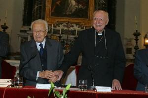 Prof. A. Negro e Cardinale T. Spidlik Inaugurazione Corsi SIMOH AA 2003/2004