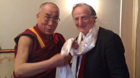 Sua Santità il Dalai Lama con il Prof. Pulcini