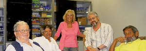 Da sinistra a destra: Emilio Del Giudice, Giuseppe (Peppino) Vitiello, Elena Napoli, Roberto Germano, Vittorio Elia.
